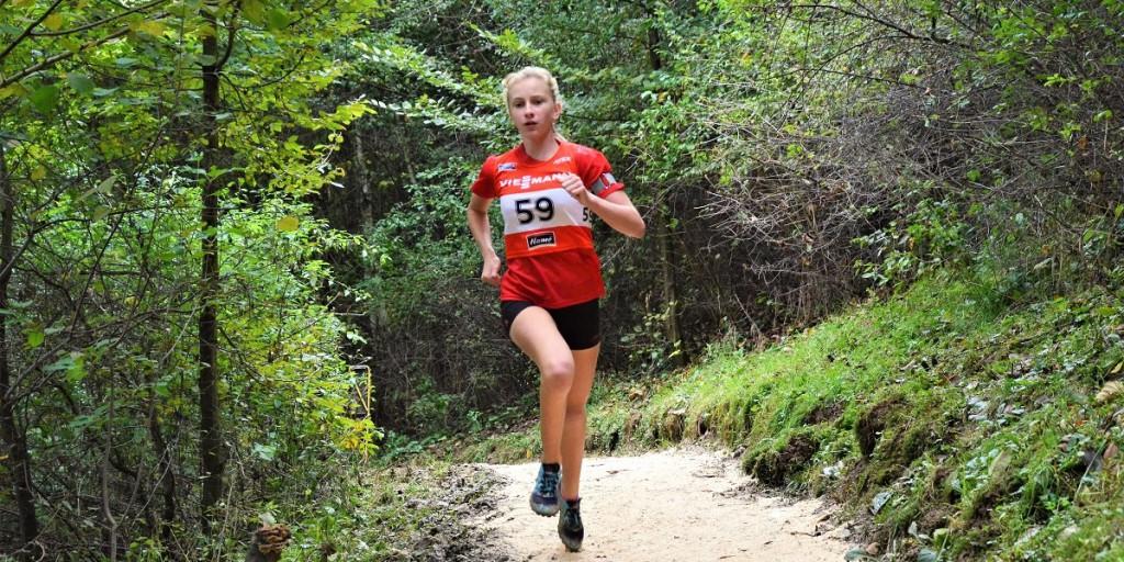 Veronika Novotná na tratu Mistrovství Slovenska v letním biatlonu