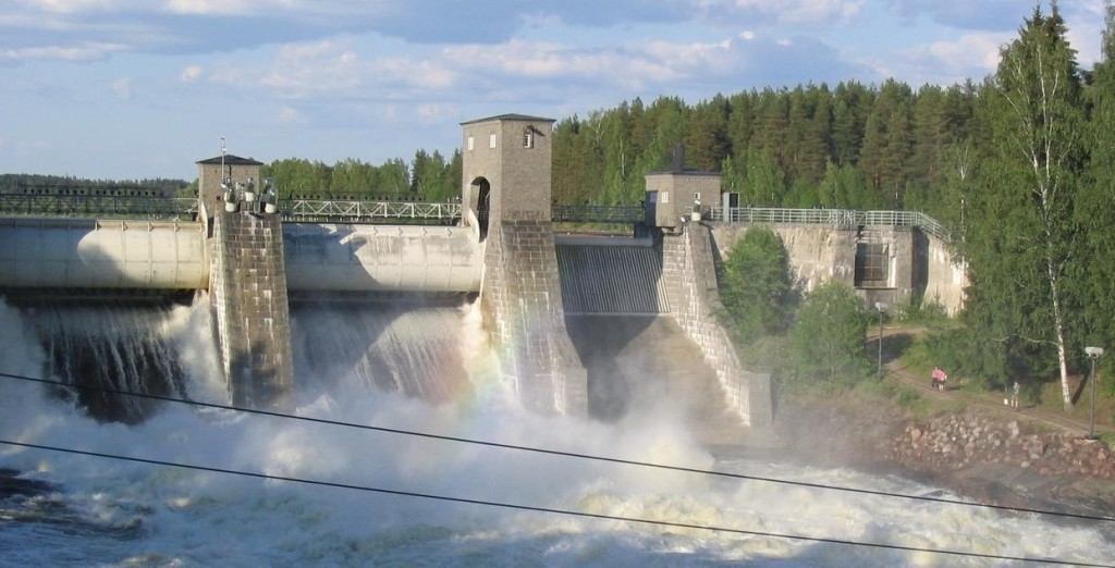 Přehrada na řece Vuoksi byla vybudována už roku 1929