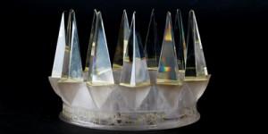 Skleněná koruna pro vítěze ankety Klubu sportovních novinářů Sportovec roku.