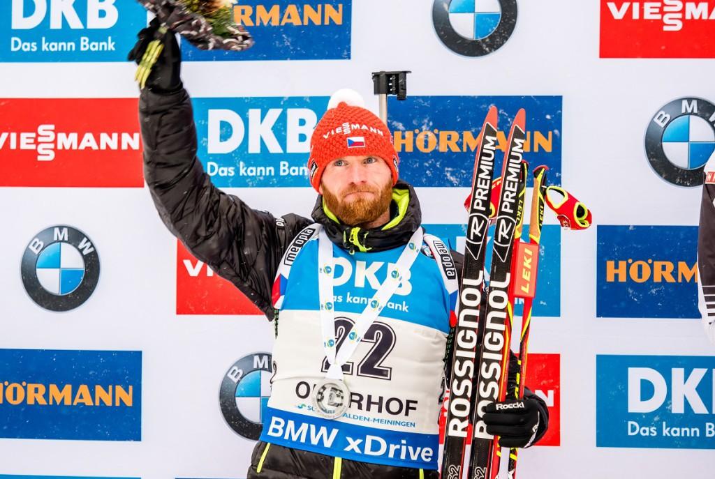 Radost, úleva i dojetí ve tváři Michala Šlesingra po jeho druhém místě ve sprintu v Oberhofu