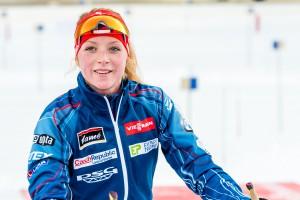 Juniorku Markétu Davidovou čeká další premiéra. V prosinci startovala v NMNM poprvé ve Světovém poháru, nyní si vyzkouší poprvé štafetu na 4x6 km!