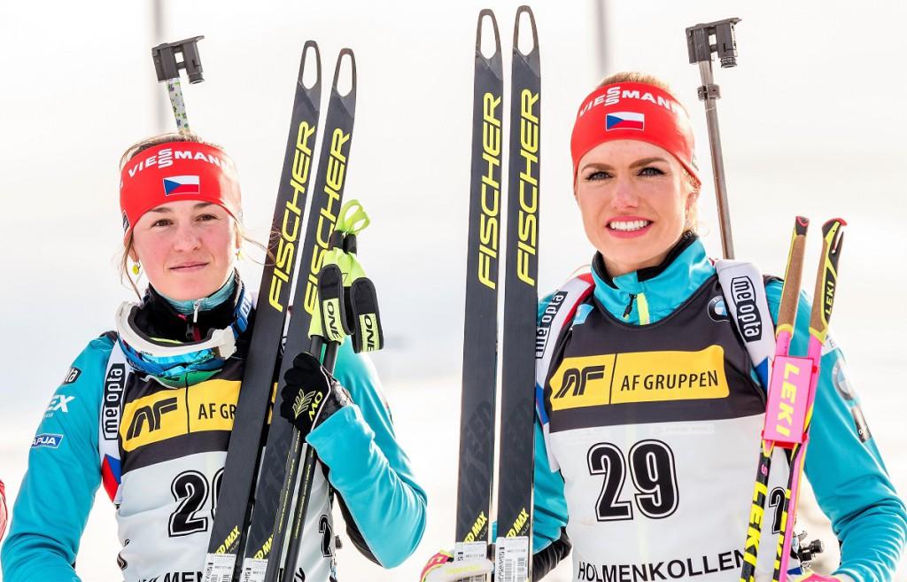 Úspěšné české duo  pátečního sprintu v Oslu. Veronika Vítková a Gabriela Koukalová