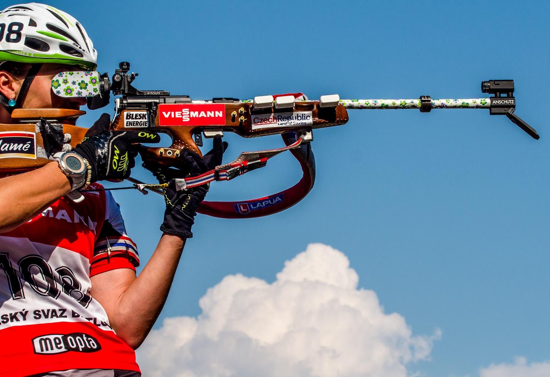Veronika Vítková dnes zvládla obě střelecké položky vstoje bez jediného zaváhání.