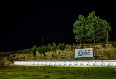 Osvícená střelnice v areálu Šedivského lomu v Letohradu