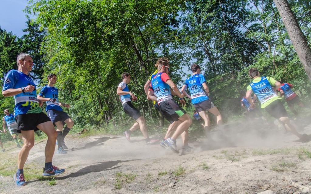 Momentka ze závodů Českého poháru, který byl kvalifikací na MČR v letním biatlonu.