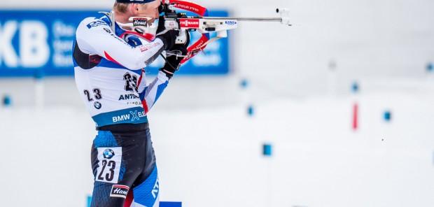 Ondřej Moravec vybojoval na závěr MS v Anterselvě 11. místo v hromadném startu