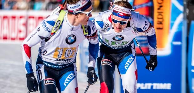 Čeští muži chybovali a ve štafetě na MS v Anterselvě skončili 13.
