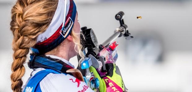 Čeští biatlonisté vystříleli pro Nadaci Leontinka už tři čtvrtě milionu. V čele střeleckého žebříčku je Davidová