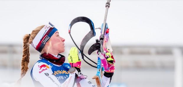 Rychlá Davidová si vyjela ve sprintu v Oberhofu 10. místo, Charvátová skončila 29.