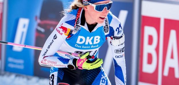 Českým biatlonistkám se povedl sprint v Novém Městě: 12. Davidová, 17. Charvátová, 27. Jislová
