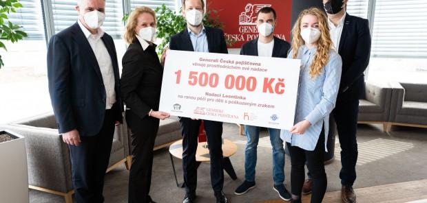 Za trefy českých biatlonistů přispěje Generali Česká pojišťovna 1 500 000 Kč Nadaci Leontinka!