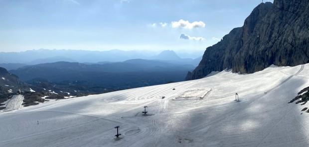 V červenci na lyžích. Čeští biatlonisté využívají dobrých podmínek na ledovci Dachstein