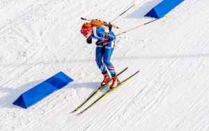Gabriela Soukalová vyčistila na druhém úseku všech 10 terčů a předvedla na MS další  vynikající výkon. Foto: Český biatlon, Petr Slavík