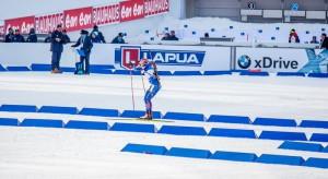 Tři trestná kola pro Lucku Charvátovou... Foto: Český biatlon, Petr Slavík