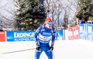 Michal Krčmář v cíli závodu ve Sprintu. Foto: Český biatlon, Petr Slavík