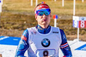 Výraz Ondřeje Moravce hovoří za vše. Foto: Český biatlon, Petr Slavík