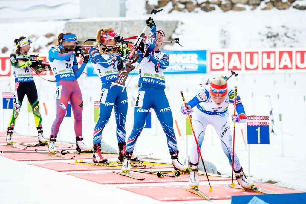 Poslední kalibrová rána odsunula Veroniku Vítkovou z boje o medaile. Foto: Český biatlon, Petr Slavík