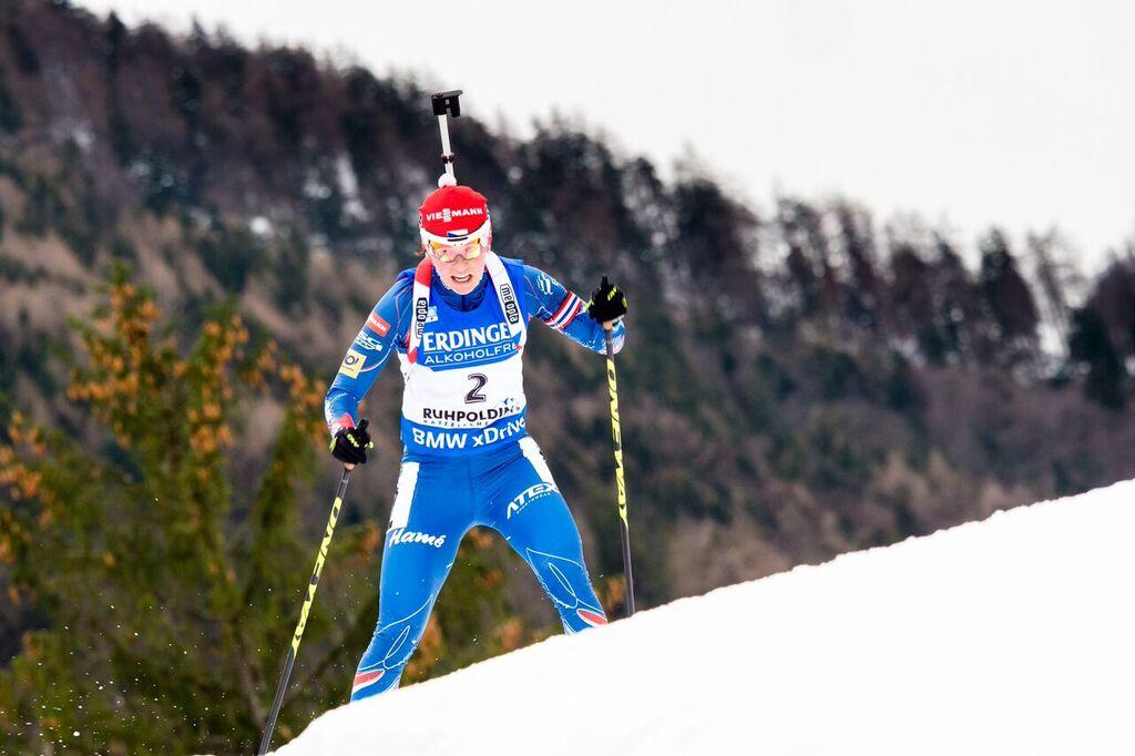 V úvodním Sprintu v Ruhpoldingu si Veronika Vítková dojela pro 9. místo. Foto: Český biatlon, Petr Slavík